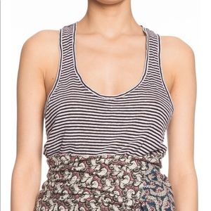 Isabel Marant Etoile Linen Striped Tank Top